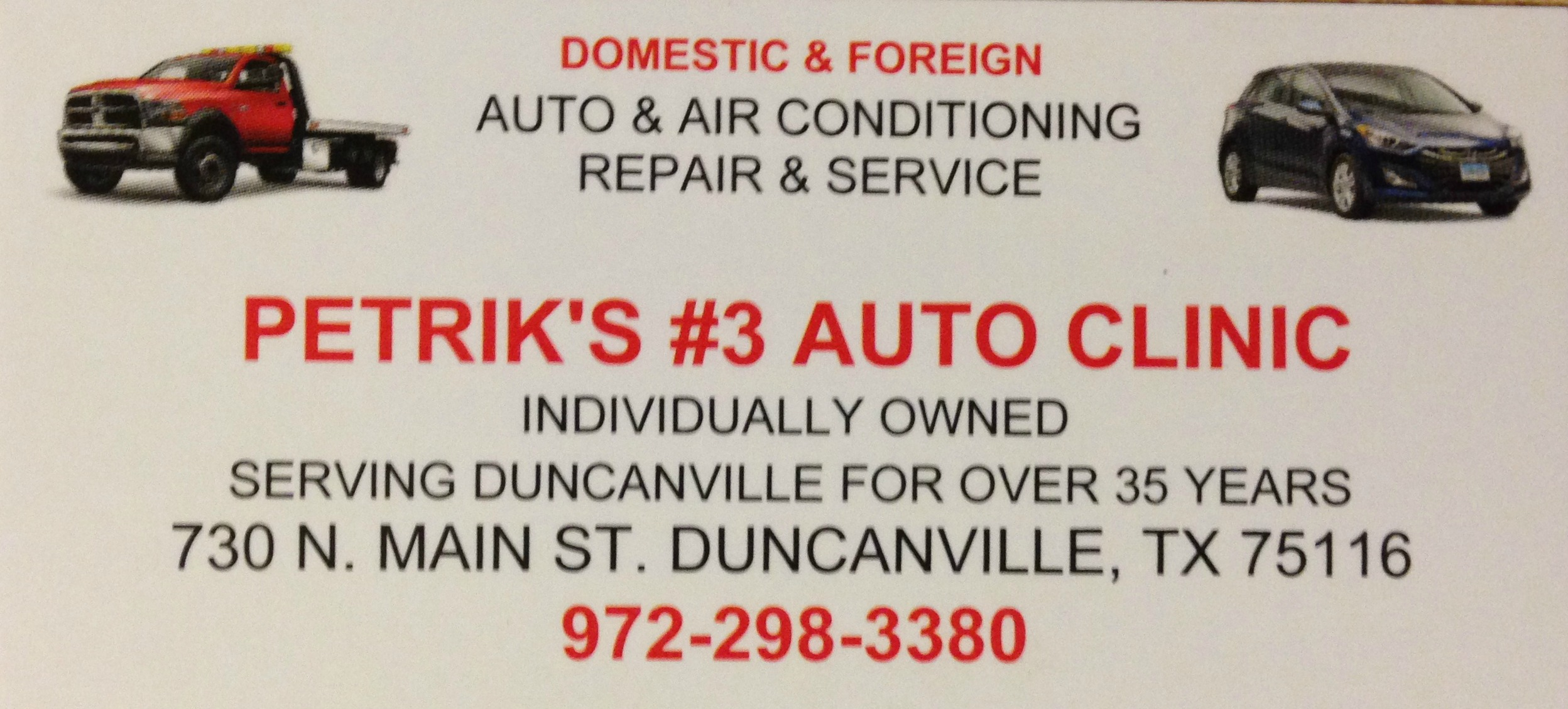 Click Here For Petrik's #3 Auto Clinic